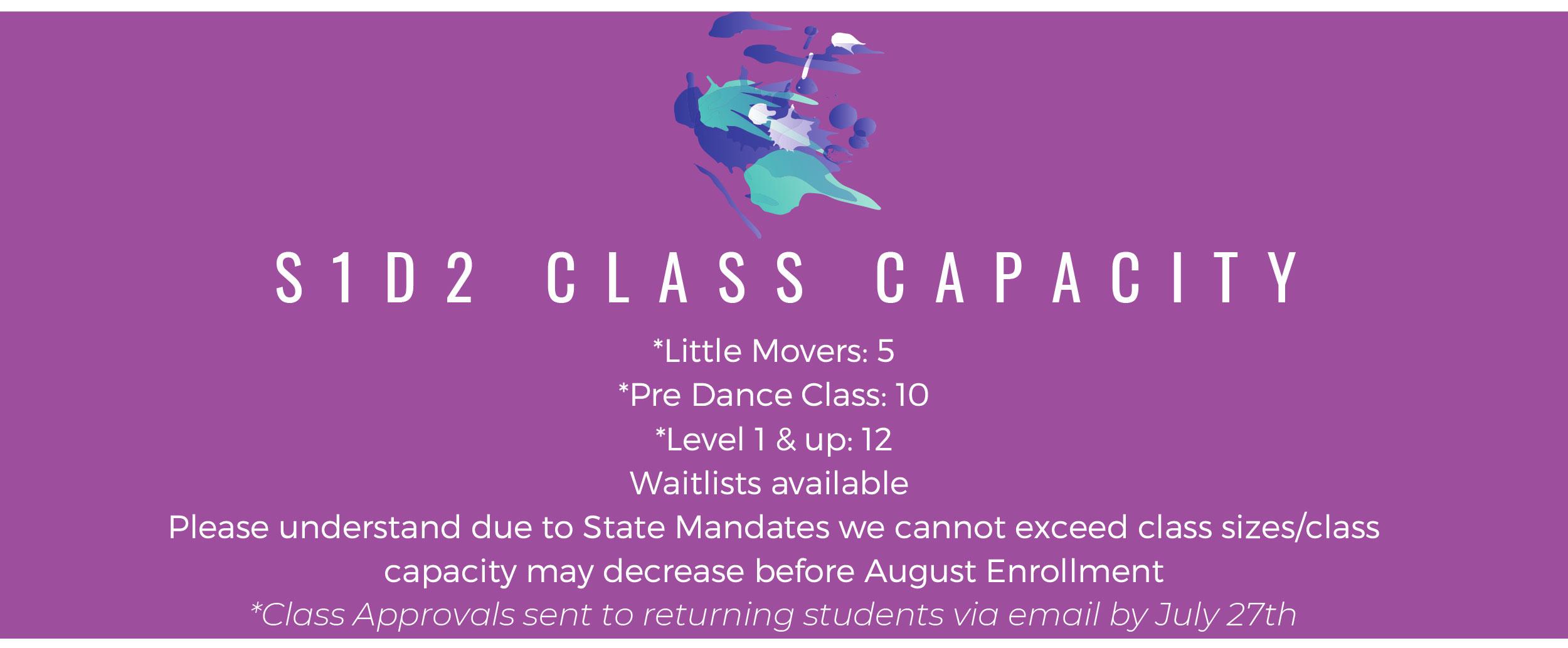 S1D2 Class Capacity
